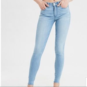 AEO • Blue Super Stretch Skinny Jegging  • Sz 4